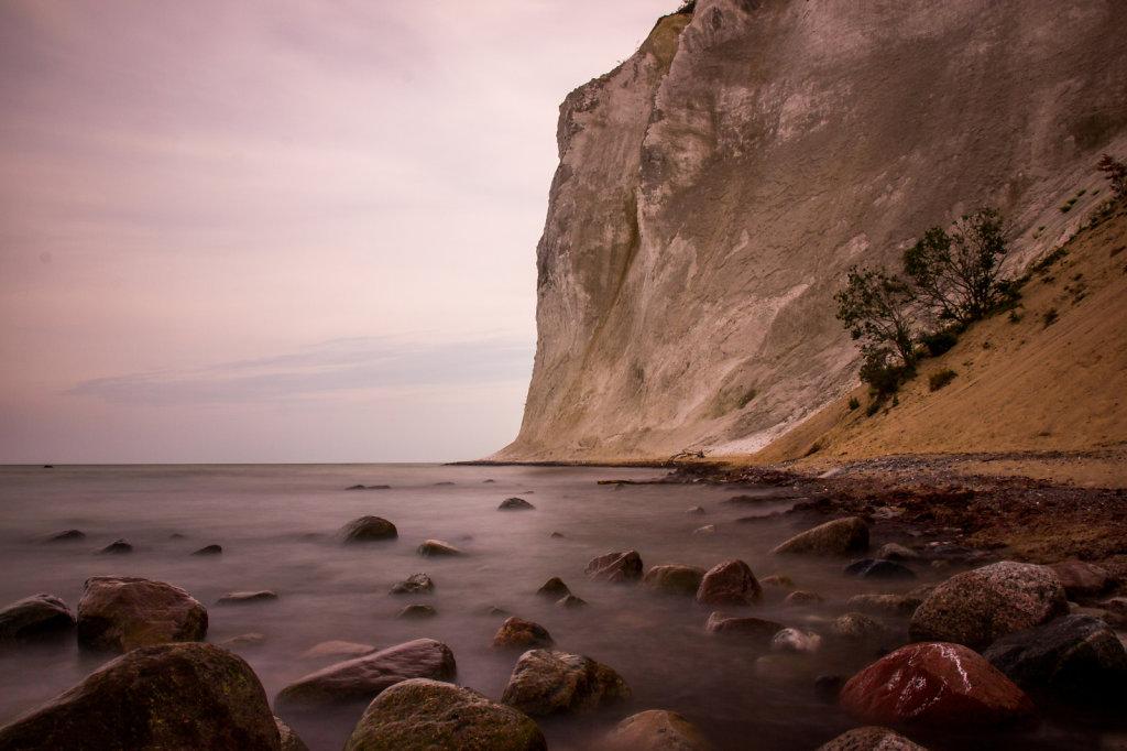 The white chalk Cliffs of Møn, Denmark